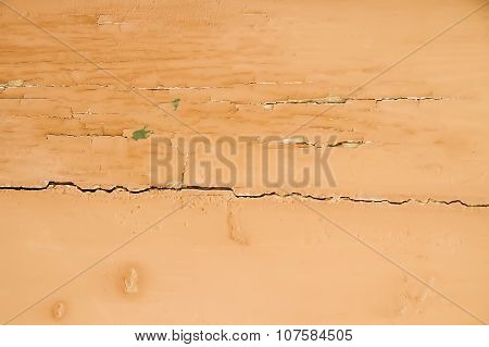 Old Wall With Weathered Orange Paint Background Texture