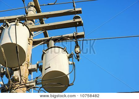 Electricity Transformers And Sky
