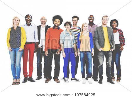 Group Of Diverse People Standing Together Concept