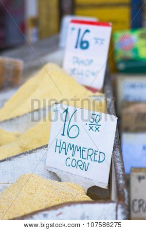Hammered Corn At A Market