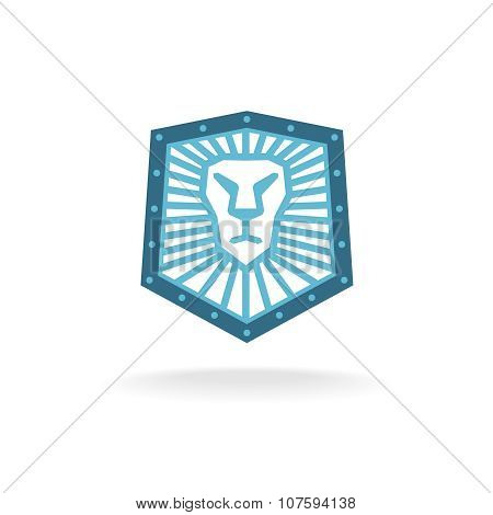Lion Head Shield Logo