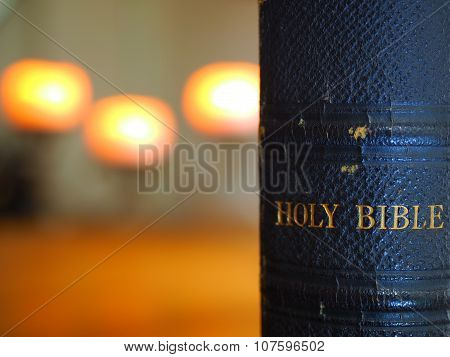 Closeup of Holy Bible