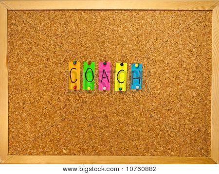 Coach On A Wooden Board