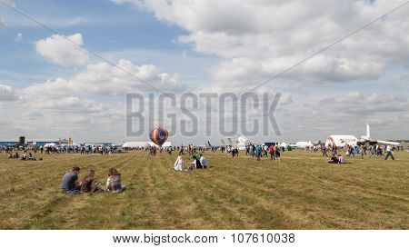 A Lot Of People At An Airshow