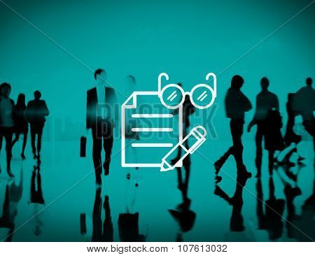Business Office Administration Corporate Paperwork Concept poster