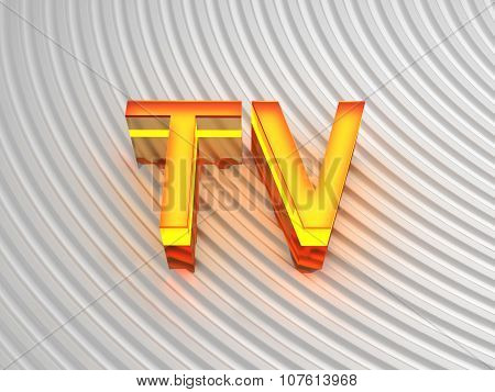 TV (Television) sign