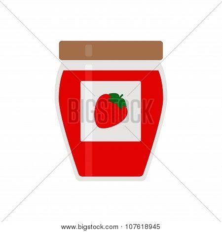 Jam. Jam icon. Isolated jam icon on white background.