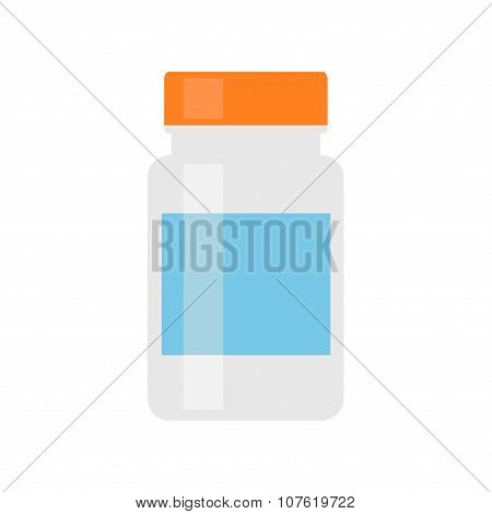 Medicine bottle. Pill bottle for pills or capsules.