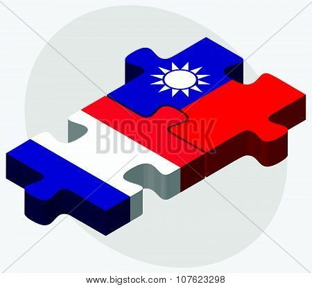 France And Taiwan Flags