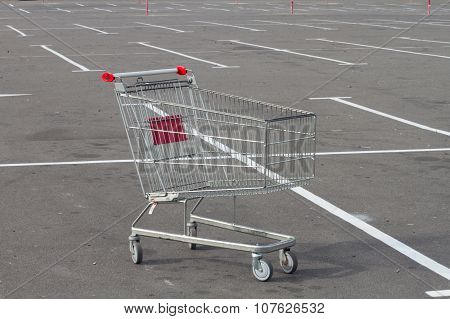 Empty Market Cart On Parking