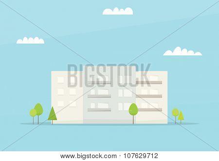 Cartoon house. Simple flat image