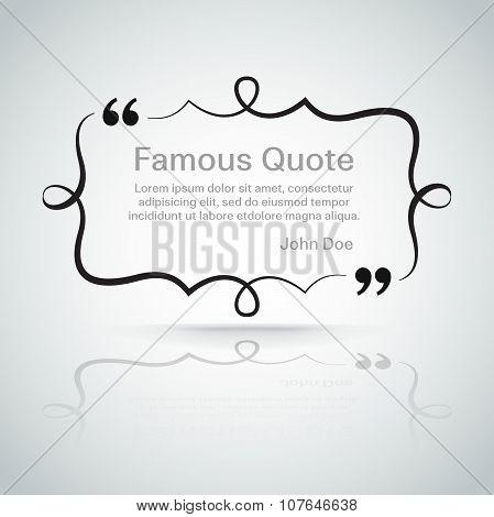 quote vector border