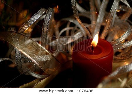 Candle With Ribbon