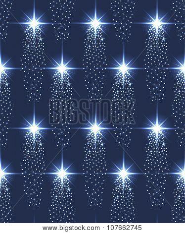 Seamless Stars Pattern In Blue.