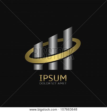 Building logo company or business finance growth symbol poster