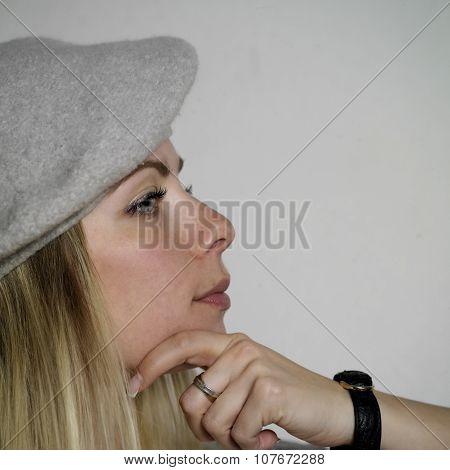 Woman With Distant Gaze