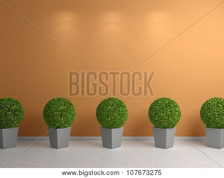 3d rendered plants.