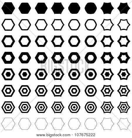 Hexagon polygon set