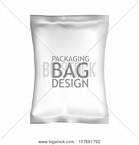 White Blank Foil Food Snack Sachet Bag Packaging