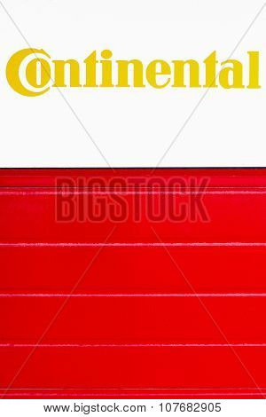 Continental sign on a wall