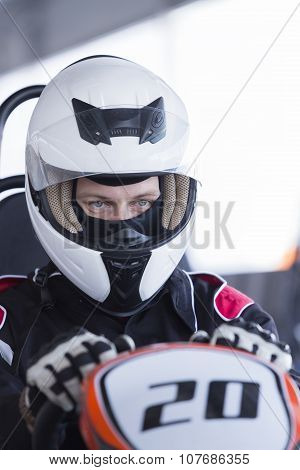 Gokart Pilot Ready For Race