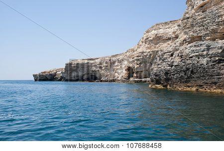 Sea Caves In Tarhankut, Crimea, Ukraine