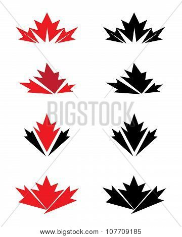 Unique and Abstract Vector Leaf Icons