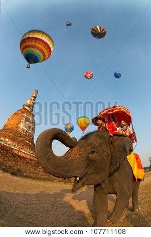 Hot Air Balloon In Thailand International Balloon Festival 2009.
