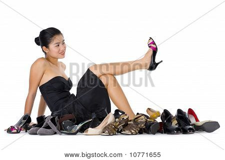 Woman Loves Her Shoes