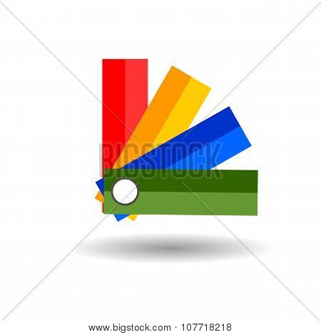 Panton Flat Icon On White Background