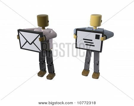 Email/ mail delivery + sent icons