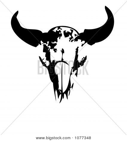 Buffalo Skull - Vector Illustration