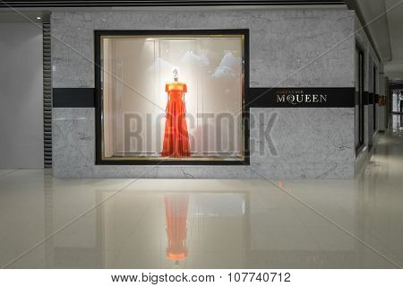 Alexander Mcqueen Fashion Boutique Display Window. Hong Kong
