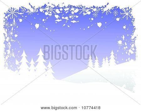 Abstract grunge winter vector background