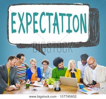 Expectation Assumption Anticipate Corporate Expecting Concept poster
