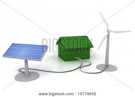 Casa de energía ecológica