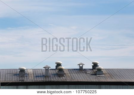 Factory Roof And Air Cooling Machines.