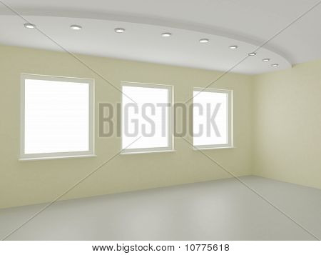 Empty Interior, New Room, Office or Residential