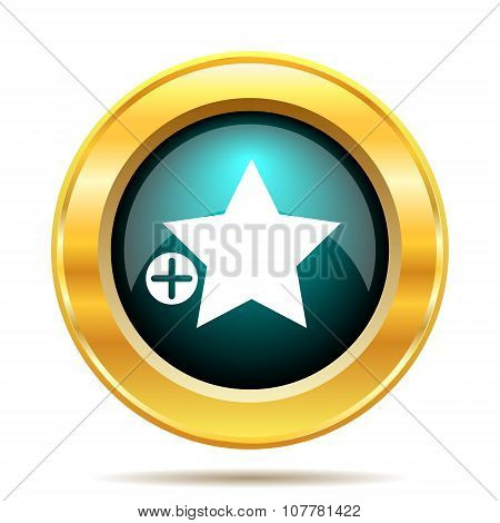 Add to favorites icon. Internet button on white background. poster