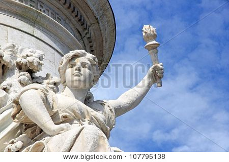 Torchbearer Statue of the Republic (Paris France)