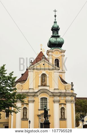 Carmelite Church In Gyor, Hungary, Vertical Composition