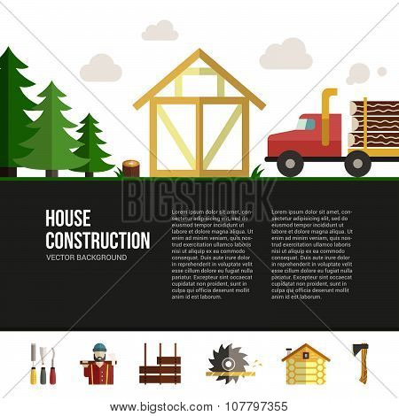 Wooden House Building