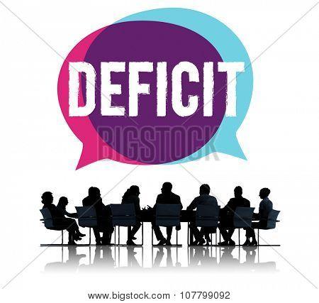 Deficit Risk Loss Deduct Recession Concept