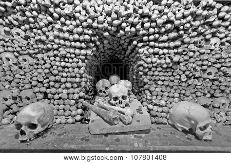Sculls And Bones In Sedlec Ossuary, Czech Republic
