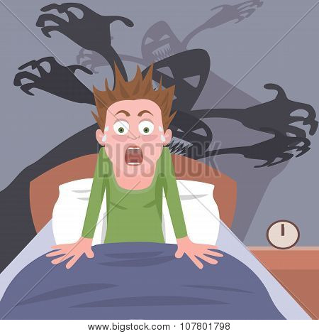 waking up from nightmare