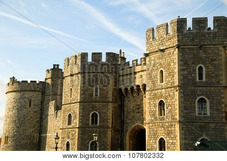 Windsor Castle, tower, turret, gateway, Henry, Windsor, castle, Berkshire, palace, Queen Elizabeth,