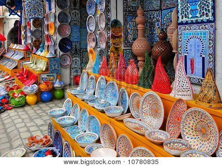 Pottery  In Souvenir Store