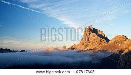 Midi Dossau, Ossau Valley, Pyrenees National Park, Pyrenees, France.