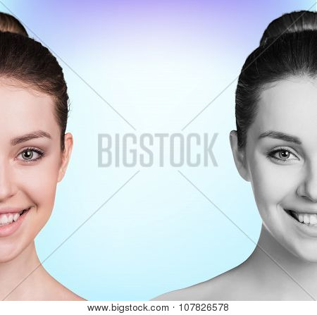 Spa portrait of a young and healthy woman