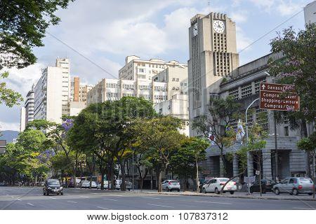 Afonso Pena Avenue In Downtown Belo Horizonte